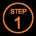 Step 1 Orange Icon