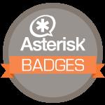 Asterisk Badges
