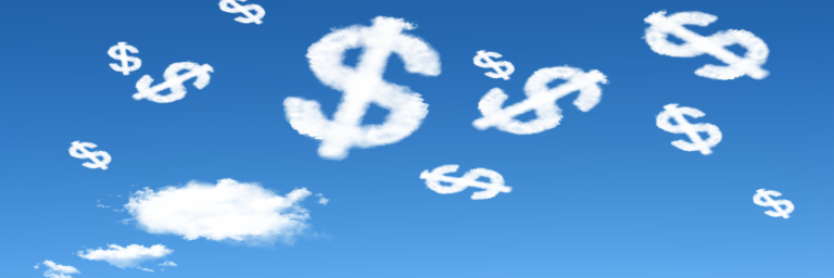 Clouds in the shape of dollar signs