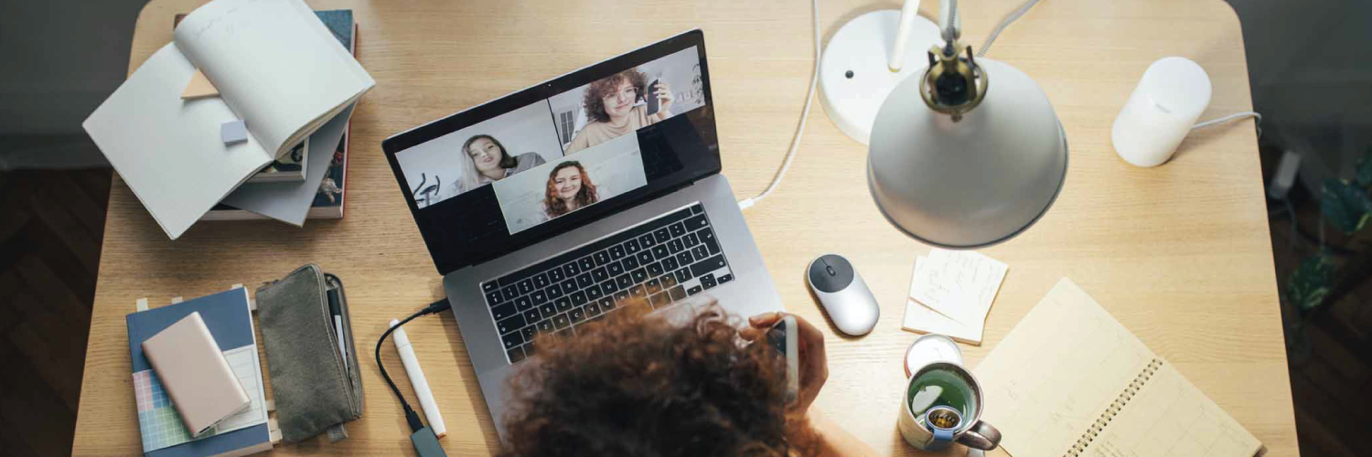 Video conference on a laptop using Sangoma Meet