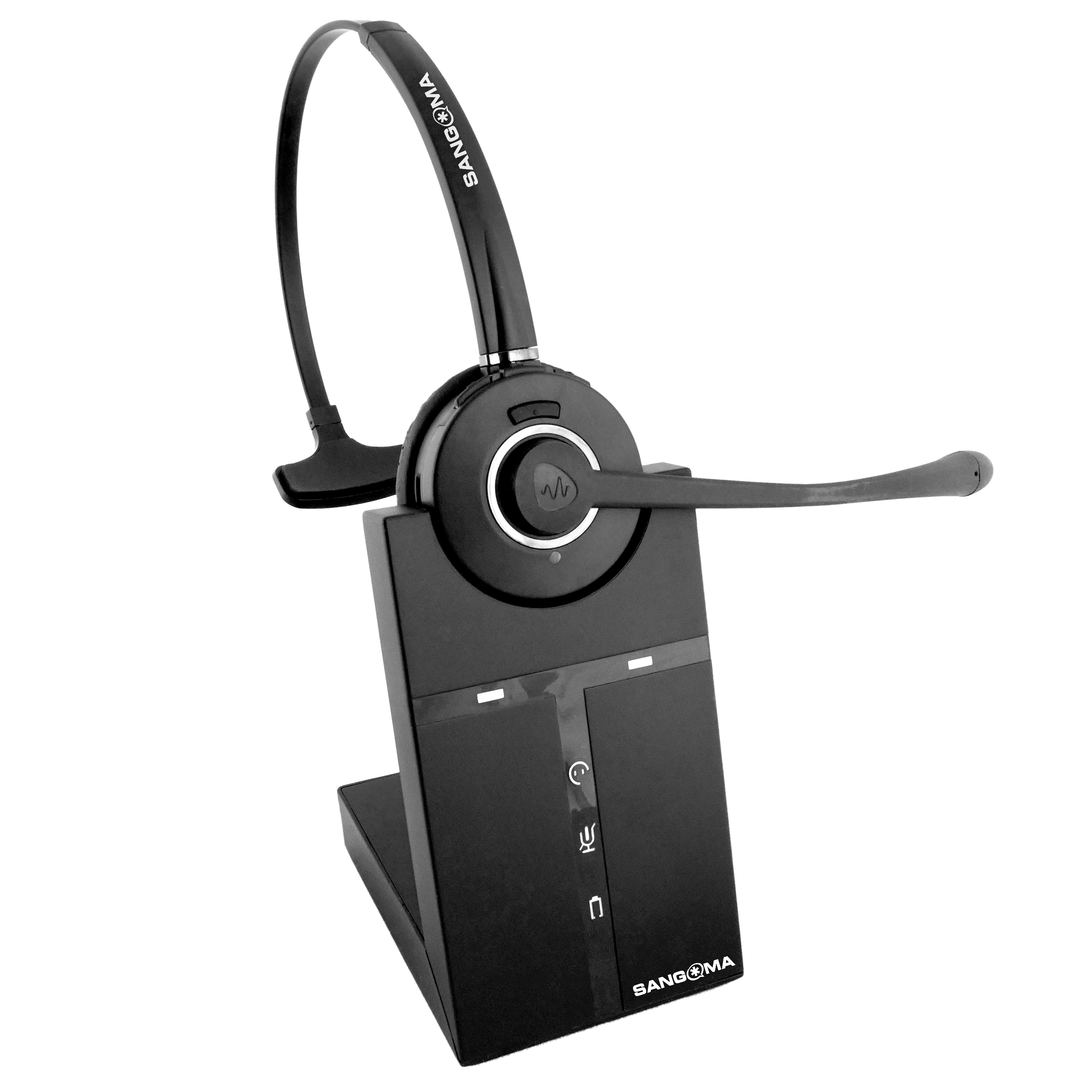 H10 headset on cradle base from the front