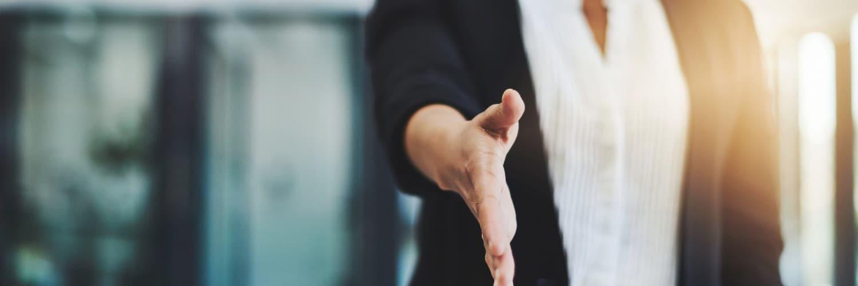 Handshake with Tina