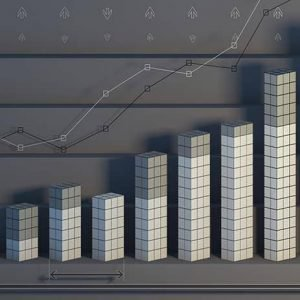 bar chart with 7 bars growing in size from left to right