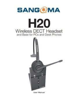 H20 Wireless DECT Headset and Base for PCs and Desk Phones User Manual Cover Page
